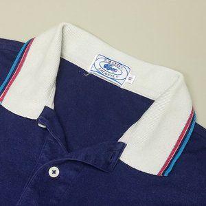 Mens VTG Izod Lacoste Stripe Tennis Polo Shirt S M